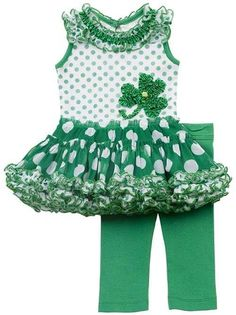 Rare edition St Patricks Day tutu legging set