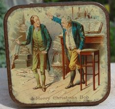 1897  'A Christmas Carol' by Charles Dickens tin - lid