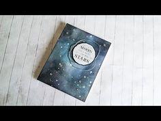 Galaxy Sky Background w/ Distress Inks - Start-To-Finish #40 - YouTube