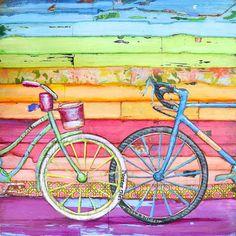 BICYCLE ART PRINT Bicycle art wedding gift by dannyphillipsart, $10.00