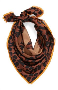 leopard square scarf | @Nordstrom