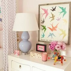Lilac Table Lamp, Contemporary, girl's room, Furbish Studio