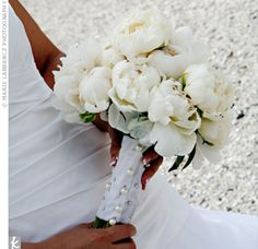 #White #peony #bouquet