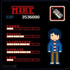 stranger things Mike game