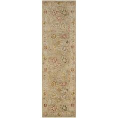 Safavieh Handmade Antiquity Taupe/ Beige Wool Rug (2' 3 x 12')