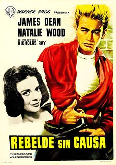 James Dean and Natalie Wood movie poster by BlueGrizzlePapers Old Movie Posters, Classic Movie Posters, Cinema Posters, Film Posters, Natalie Wood, James Dean, Old Movies, Vintage Movies, Movies Must See
