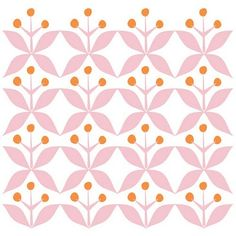 pink and orange floral pattern Pretty Patterns, Beautiful Patterns, Color Patterns, Retro Pattern, Pattern Art, Orange Pattern, Graphic Patterns, Textile Patterns, Motifs Roses