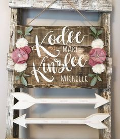New baby twins hospital ideas Twin Girl Names, Twin Girls, K Names For Girls, Twin Twin, Baby Door Hangers, Hospital Door Hangers, Hipster Baby Names, Hipster Babies, Rustic Nursery
