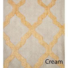 metallic gold foil kilim moroccan trellis rug