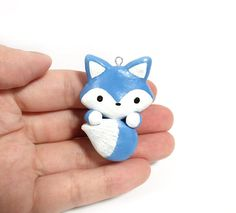 Blue Arctic Fox Blue Wolf Kawaii Fox Cute Wolf Fox