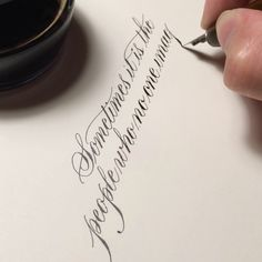 """A close up look at the first half of the quote from The Imitation Game.  If you're keen on learning calligraphy this March, feel free to drop me an email:…"""