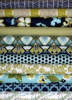 Joel Dewberry Fabric Bundle  MODERN MEADOW for by MoonaFabrics, $54.00
