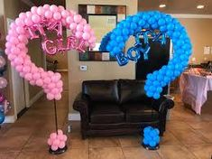 gender revel balloon arch - Google Search Gender Reveal Balloons, Baby Shower Balloons, Balloon Arch, Halloween, Google Search, Home Decor, Decoration Home, Room Decor, Interior Design