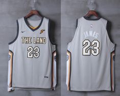 8d3790904 Nike NBA Cleveland Cavaliers  23 LeBron James Jersey 2017 18 New Season  City Edition Grey