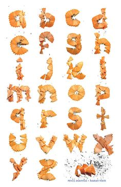 Pencil Shavings Alphabet by Mariah Waite, via Behance