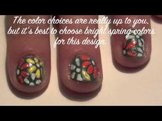 Spring Flower Nail Art Tutorial