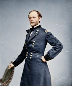 General of the Army, William T. Sherman, shortly after his personal friend & fellow Union General Ulysses S. Grant assumed the Presidency in 1869 (colorized).