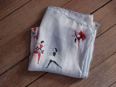1950s Ballerina Silk Scarf 2012166 by bycinbyhand on Etsy, $11.00