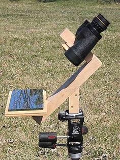 Space And Astronomy Downward Looking Binocular Mount -Astronomy- Rod Nabholz Diy Telescope, Space And Astronomy, Tips & Tricks, Sundial, Astrophysics, Science And Nature, Stargazing, Science Projects, Science Lessons