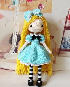 "513 Likes, 20 Comments - @ouax on Instagram: ""#alice #amigurumi #crochet #crochetdoll #handmade"""