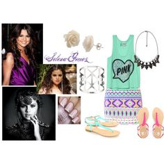 A fashion look from July 2013 featuring purple dresses, victoria secret shirts and mini skirt. Browse and shop related looks. Selena Gomez Style, Weird, Essentials, My Style, Music, Polyvore, Cute, Pink, Closet