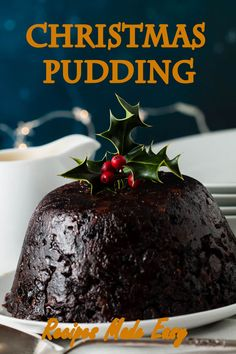 A dark rich Christmas pudding, by Recipes Made Easy serve with custard, cream or brandy (or rum) butter. Makes 1 large and 1 medium pudding. #Christmas #pudding #xmaspudding #recipesmmadeeasy Christmas Treats To Make, Christmas Desserts, Christmas Stuff, Christmas Time, Xmas Pudding, Christmas Pudding, Holiday Baking, Christmas Baking, Best Dessert Recipes