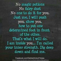 No magic potion, no fairy dust, just do it.  You have the inner strength.  #edrecovery #recovery