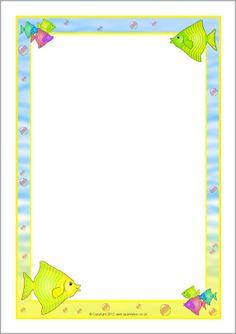 Fish A4 page borders (SB7462) - SparkleBox