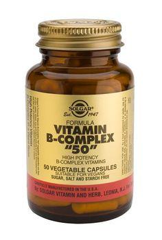 "Solgar Vitamins Vitamin B-complex 50"" 250 plantaardige capsules"" - Solgar Vitamin B-complex 50"" activeert de natuurlijke energie in het lichaam (vitamine B-1, B-2, B-3, B-5, B-6, B-12, biotine) en houdt het haar sterk (biotine)."" #vitaminA #vitaminC #animals"