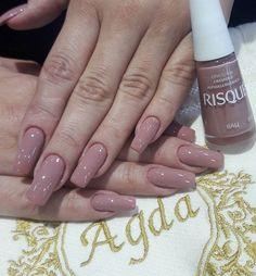 40 glitter gel nail designs for short nails for spring 2019 page 8 Glitter Gel Nails, Nail Manicure, Acrylic Nails, Nail Polish, Em Nails, Hair And Nails, Classy Nails, Trendy Nails, Elegant Nails