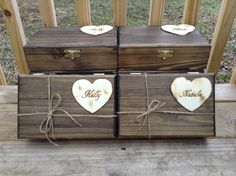 Bridesmaid Gift - Set of 6 Large Personalized Boxes - Engraved Wooden Keepsake Box with Heart - Maid Of Honor on Etsy, $162.00