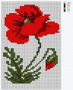 Ideas for embroidery designs floral free pattern Cross Stitch Fruit, Mini Cross Stitch, Cross Stitch Rose, Modern Cross Stitch, Cross Stitch Flowers, Counted Cross Stitch Patterns, Cross Stitch Charts, Cross Stitch Designs, Cross Stitch Embroidery