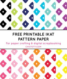 Free Printable Ikat Paper from @chicfetti