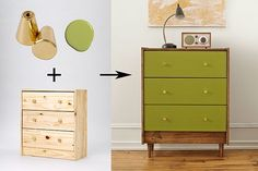 IKEA Dresser: One Piece, Five Ways See how we transformed this simple, flat-pack dresser into a mid-Century Modern classic. IKEA hack: Pax Dresser (Christina Dueholm) Ways To Hack IKEA Spice Racks – Josie K. Ikea Dresser, Interior, Painted Furniture, Home Furniture, Furniture Hacks, Ikea, Home Decor, Furniture Makeover, Dressers Makeover