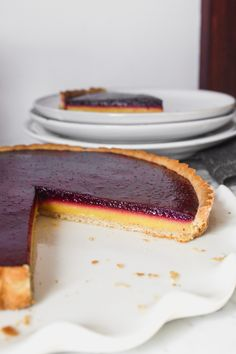 This layered, summery tart is as stunning as it is delicious. Naturally sweetened, this tart recipe features a vibrant lemon curd layer followed by a perfectly-sweetened blueberry filling. From Lauren Grant of Zestful Kitchen