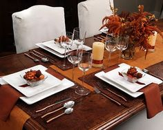 Decorating Rectangle Glass Dining Room Table Fall Table Settings Simple Christmas Table Decorations How To Make Fall Decorations At Home Dining Table Centerpiece Fall Table Decorations Easy For Everyday Fall Dinner, Dinner Table, A Table, Fall Table Settings, Thanksgiving Table Settings, Place Settings, Setting Table, Formal Dinner Setting, Dining Etiquette