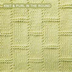 Knitting A Pattern In The Round : [Knit and Purl in the round] Pennant Pleating - Reversible pattern looks iden...