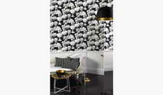 Mezzo Onyx Wallcovering - how awesome is this wallpaper?  Will look amazing with my monochrome bedroom theme.