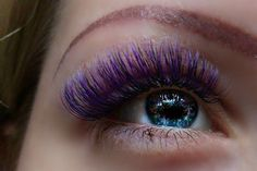 Colored eyelash extension 3D