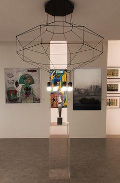 WIREFLOW sculptural pendant by Arik Levy