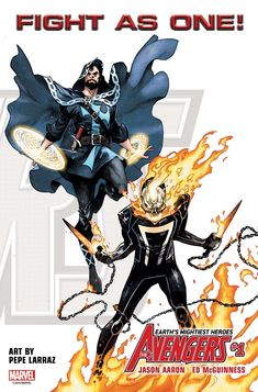 The all-new Avengers roster to include Doctor Strange and Ghost Rider