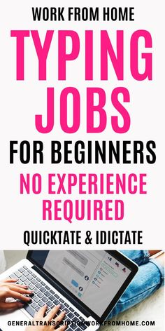 Typing and Transcription Jobs for Beginners. No Experience Required. Quicktate is one of the easiest transcription companies to work for when getting started in transcription and they hire transcriptionists worldwide. #typingjobs #typingjobsfromhome #dataentryjobs #transcription #transcriptionjobs #workfromhome Best Online Jobs, Online Jobs From Home, Home Jobs, Online Work, Legit Work From Home, Legitimate Work From Home, Work From Home Tips, Transcription Jobs For Beginners, Transcription Jobs From Home