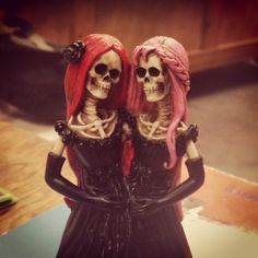Meet Rose and Dahlia. #skeleton #siamesetwin