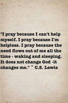 I pray ..