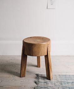 'Oscar' teak stool | Olive and the Fox