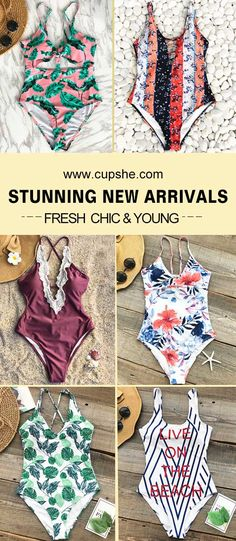 Time to update your wardrobe~ From seaside to the pool, these chic new pieces will be your new favourites. Fresh design, floral & stripe printing, soft fabric and FREE shipping!