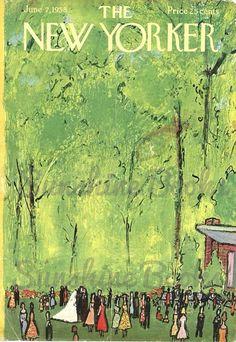 The New Yorker Magazine Cover - June 1958 - Abe Birnbaum -