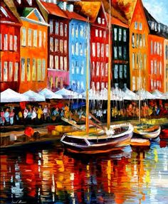 Copenhagen Denmark Art Print by Leonid Afremov Copenhagen Denmark, Oui Oui, Leonid Afremov Paintings, Art And Architecture, Painting Techniques, Oil Painting On Canvas, Painting Inspiration, Impressionism, Fine Art America