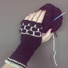 knittingpattern Bubblewarmers - Puk Vossen