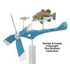 Bass Whirligig Wood Project Plan